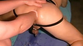 My wife fucks me with her fist in the ass!