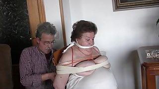 Tied and gagged grandma