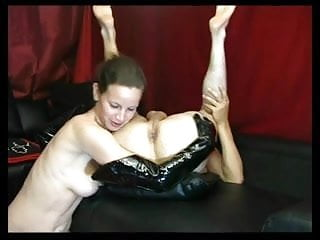 Woman licks pecker - Dominant woman rimming and fingering guy