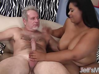 White cock pussy Ebony plumper has her mouth and pussy filled with white cock