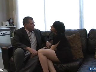 Sex with older guys Two older guys fucks hard young pussy