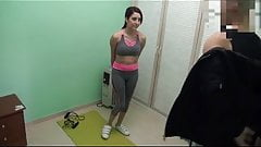 She fucked her trainer! Busty Susy Blue in her first hidden camera video