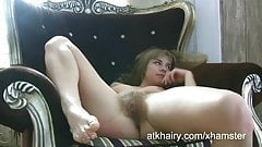 Loise is sexy and hairy in this amateur hairy video