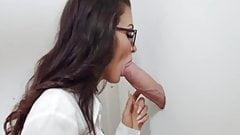 Susi fucks a monster white cock gloryhole felix j