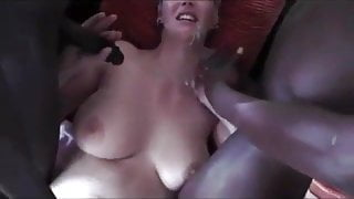 Awesome Cuckold Milf with 2 Guys with Big Cocks