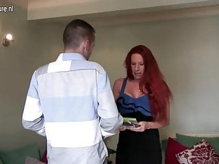 Big breast old matures - Big breasted british milf fucking her toy boy