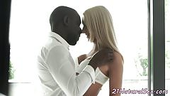 Pussyfucked eurobabe loves BFs black cock