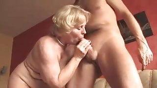 Amateur Granny Sucks And Takes A Hard Cock