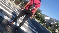 Sexy leggings adolescente close-up
