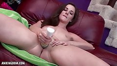 Bella Skye Strips To Shove Dildo In Her Pussy For You