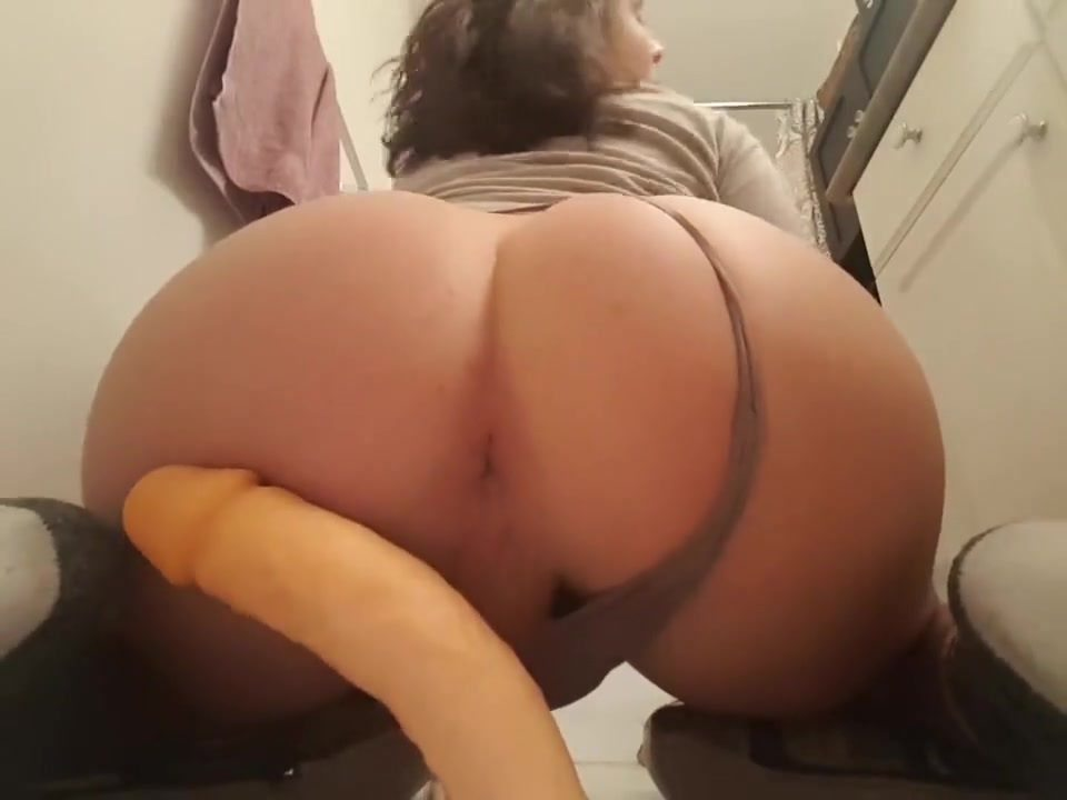 Big Ass Wet Dildo Riding