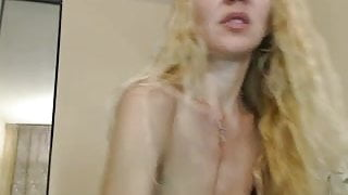 Sexy MILF with big cunt toys on webcam