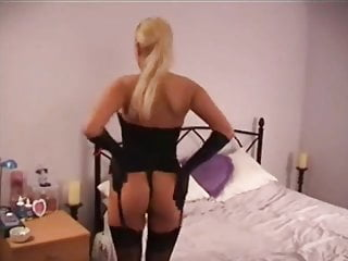 Corsets lingerie Black corset and fishnets fingering