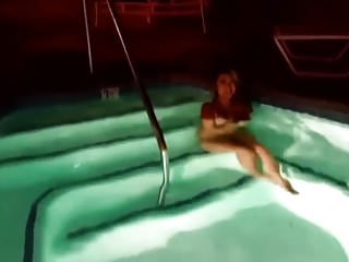 Sperm survive in hottub Asian hottie hottub cum