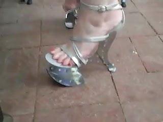Broken door fetish My next door milf with new 7 inch metal heels
