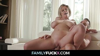 Milf With Huge Tits Seduces Stepson For Sex
