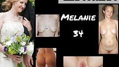 Exposed slut bride Melanie