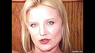 retro blonde slut' seka lookalike' huge dildo's assfucked'