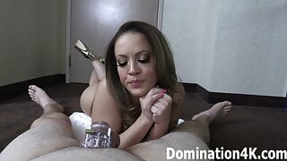 Serve as Carmen Valentina's cuckold in chastity