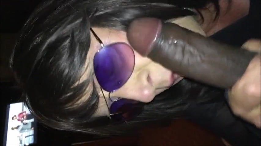 Ebony Milf Sucking White Cock
