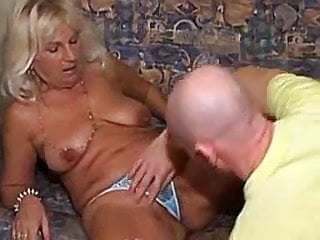 Bald naked man Granny fucked by bald man