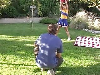 Cheerleader slut gets fucked by everyone - Redhead cheerleader gets fucked