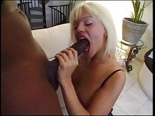 Ature nylon porn - Blonde mouth drains a massive black wang