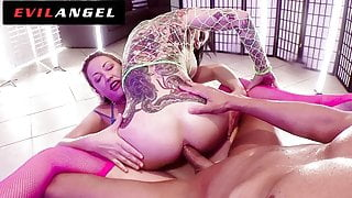 EvilAngel - Wild Squirting, Face Drilling, Anal Threeway