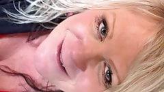 BBW Big Tit Blonde Freckled Milf Motel 6 Public Blowjob
