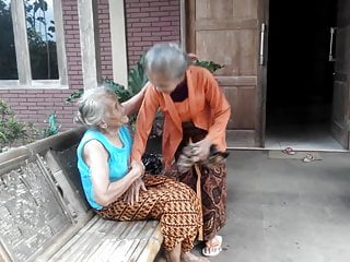 Asian very young hardcore 2 very old grannies kissing