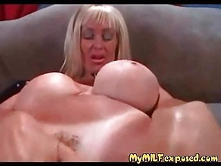 Milf tanlines - My milf exposed busty milf with tanlines playing with cock