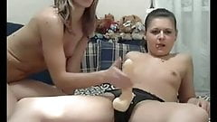 Amateurs strapon lesbian amateur (no sound)