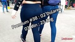 Candid Spandex Jeans Shorts Voyeur Premium 036-040