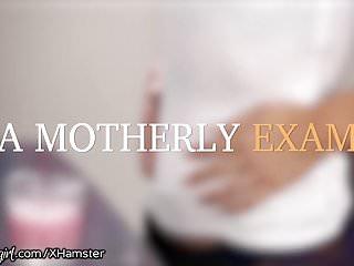 Shamrock latex examination glov Mommysgirl elsa jeans pussy examined by mommy