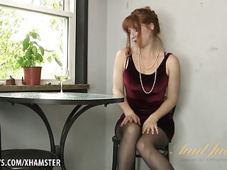 Girl pleasure the video Amber dawn pleasures herself wearing thigh highs.