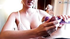 Vibration Handjob On Big Cock! Teasing Until Orgasm