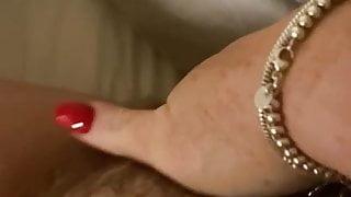 Bbw hairy pussy POV cum