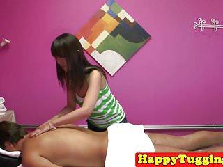 Asian masseuse handjob video - Petite asian masseuse wanking her client