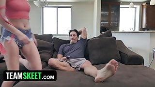 Teen Slut Kenna James Gives Stepdaddy A Piece Of Her Butt