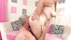 Vivid.com - Fat Slut Tiffany gets fucked by an old man