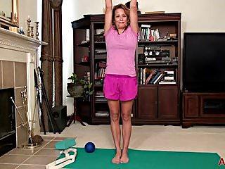 Lily allan pussy Jade allan yoga and masturbation on allover30