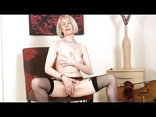 Nylon stocking sex tube - Mature in pearls and nylons toys