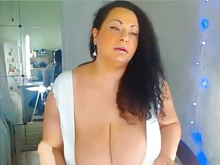 Nice big breast archives - Sexy curvy huge breast milf giving dildo a nice tit fuck