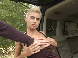 Vintage land rover restoration Kinky mother takes huge cock in land rover