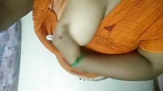 busty bhabhi taking her big boobs out