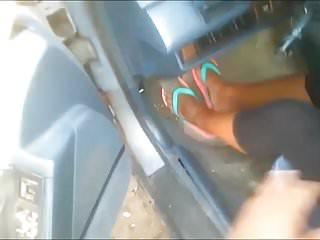 Footjob pics with blue toenails Milf candace blue toenails
