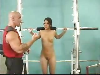 Woman gym naked Naked gym session by snahbrandy