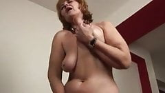 Old naked housewife