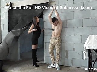 Boy bondage gay Femdom katy humiliates toy boy