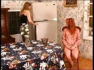 Lesbian house wife Russian mature and her lesbian house maid 3